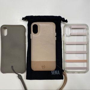 iPhone X cases by Sena, Otterbox & Lander.